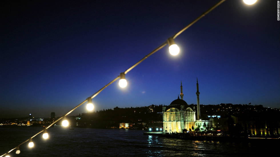 Celebrate across two continents on the Bosporus in Istanbul, Turkey.