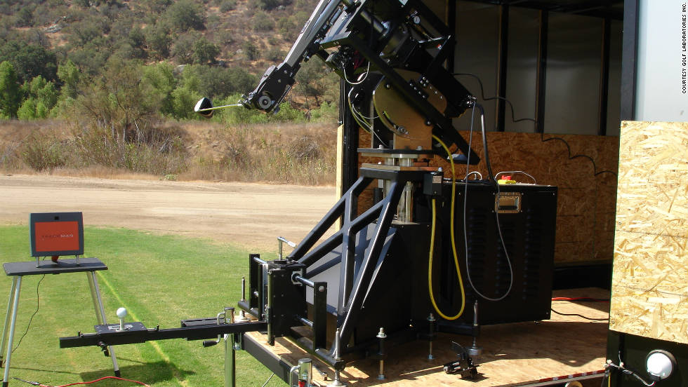 Robots designed by Golf Laboratories Inc. are the industry standard in golf club and ball testing, and can be programmed to simulate any swing.