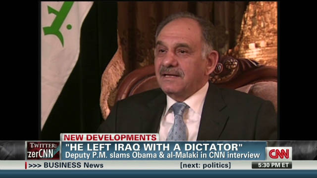 Deputy PM: U.S. 'deceived' by Iraqi PM
