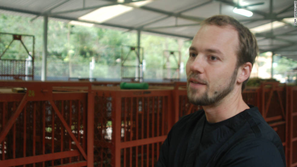 Facility manager Falk Wicker says bear bile cures in Vietnam have more to do with status than traditional medicine.
