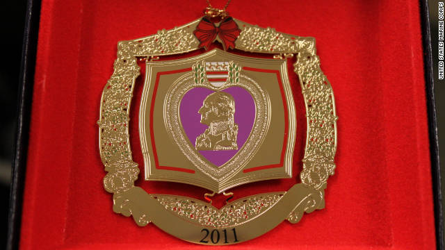 The Purple Heart ornaments were intended for the families of those wounded in battle.