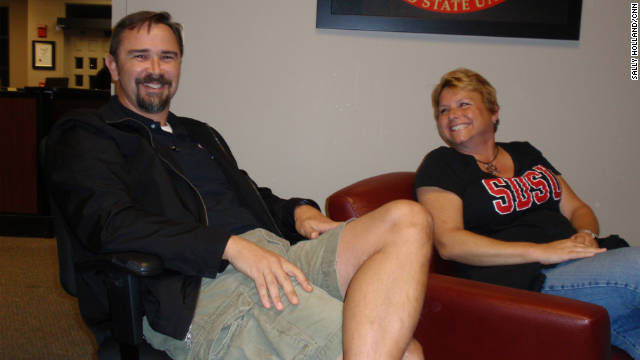 Todd Kennedy and Holly Shaffner both retired from the military and now are student veterans at San Diego State University.