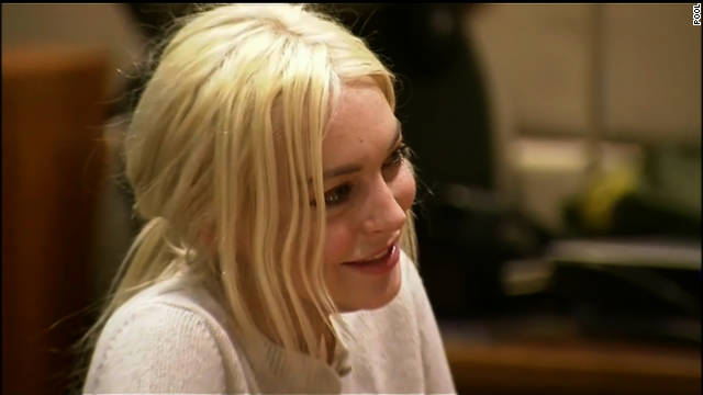 Lindsay Lohan appeared in court Wednesday for a progress report.