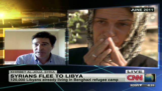 Syrian refugees flee to Libya