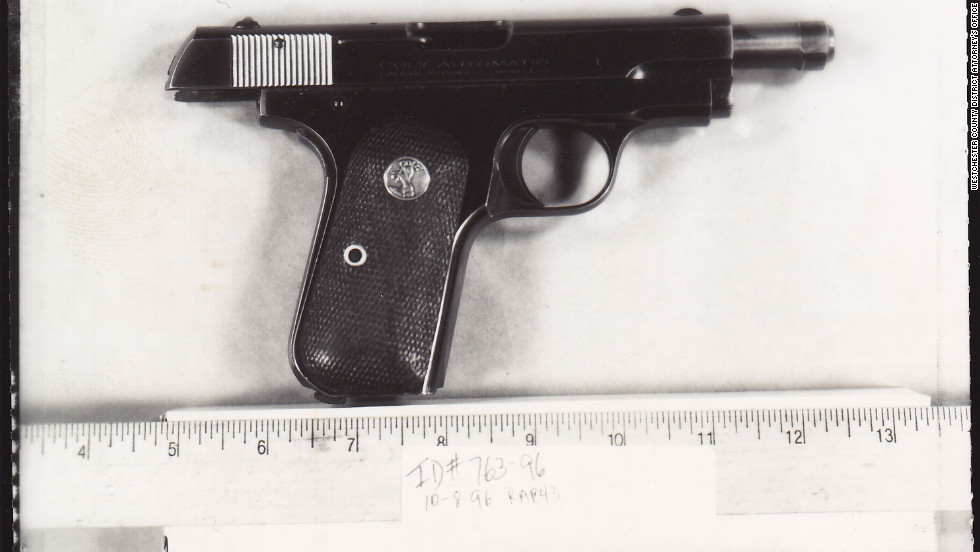 Inside the store, Rich Jr. saw Campbell swinging the bat at his father outside. Rich Jr. reached under the cash register and grabbed this pistol, ran out the door and fatally shot Campbell in the chest three times.