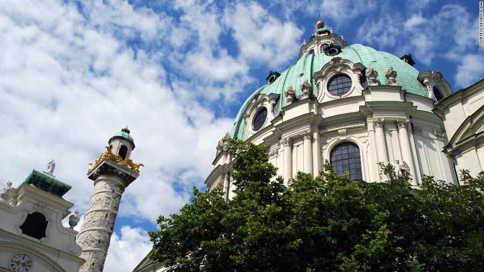 "Kevin Kasmai shared this photo of the Karlskirche, a Baroque-style cathedral. ""I spent 3 days in Vienna -- that is hardly enough time to scratch the surface of such a historic city."""