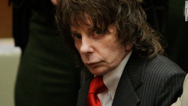 LOS ANGELES, CA - MAY 29: Phil Spector (L) listens to the judge during sentencing in Los Angeles Criminal Courts on May 29, 2009 in Los Angeles, Californial, for the February 2003 shooting death of actress Lana Clarkson. Spector was sentenced for 19-years to life. (Photo by Jae C. Hong-Pool/Getty Images)