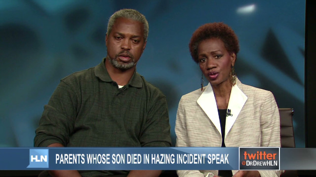 Parents of slain drum major speak