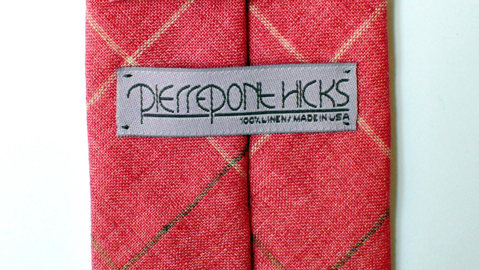 Pierrepont Hicks began as a way for Katherine McMillan to bring in extra income when she was pregnant. Now, it's a full-time labor of love backed by a commitment to manufacturing in the U.S. The name is synonymous with simple yet elegant ties and bowties.