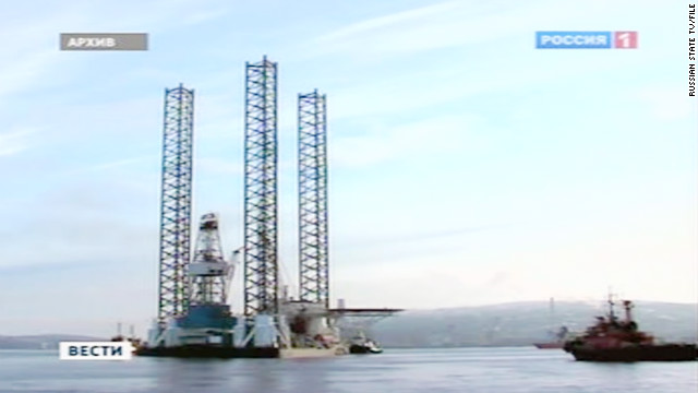 A Russian offshore drilling rig has capsized in the Sea of Okhotsk northeast of China.