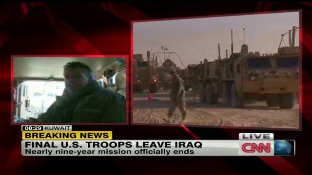 Traveling with troops leaving Iraq
