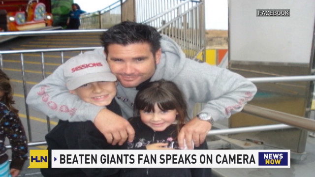 Beaten Giants fan finally able to speak