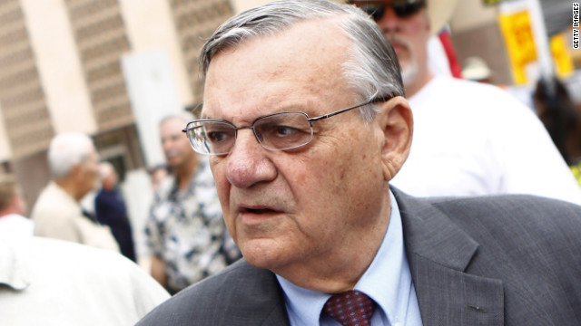 Arizona Sheriff Joe Arpaio of Maricopa County at a Tea Party Express rally in Phoenix in October.