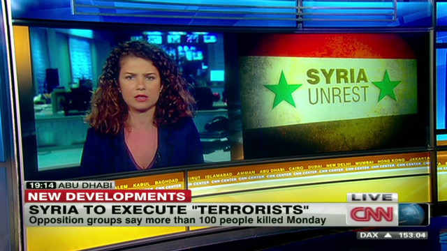Syria threatens to execute 'terrorists'