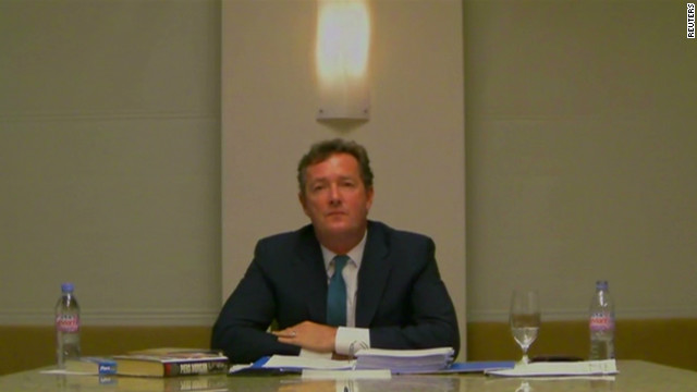 Piers Morgan testifies on phone hacking