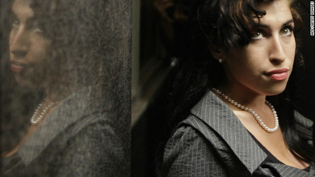 Amy Winehouse outside Westminster Magistrates Court in London on July 23, 2009.