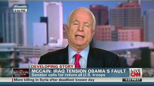 McCain says Iraq unraveling fast