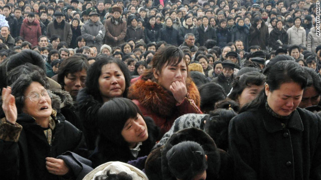 North Koreans mourn the death of their leader, Kim Jong Il, in Pyongyang on Wednesday.