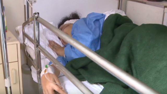 Female demonstrators attacked