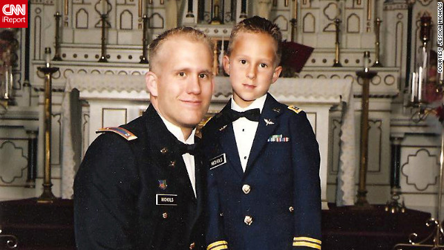 Braydon Nichols with his father, Army Chief Warrant Officer Bryan Nichols.