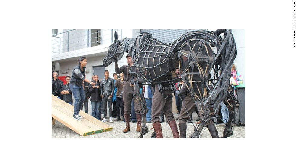 "Jones and Kohler are the creators of the astounding life-sized horse puppets that grace the stage in the award-winning play ""War Horse."""