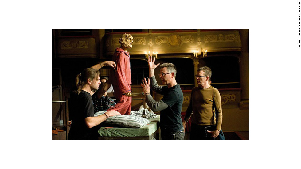 "A rehearsal for Handspring's production of ""Il Ritorno D'Ulisse,"" in 2009."