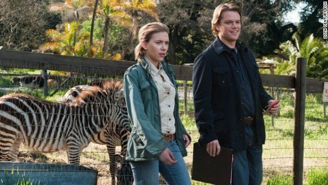 "Widower Matt Damon meets zookeeper Scarlett Johansson in director Cameron Crowe's ""We Bought a Zoo."""