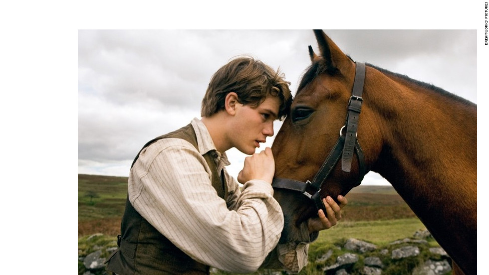 """Steven Spielberg's """"War Horse"""" stars Jeremy Irvine as a young man whose horse is sold and used as a cavalry mount during World War I."""