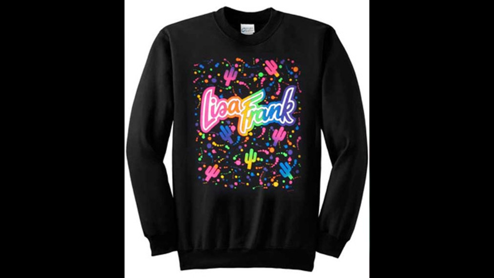 Lisa Frank, popular in the '90s, now sells clothing, some of which is available in adult sizes.