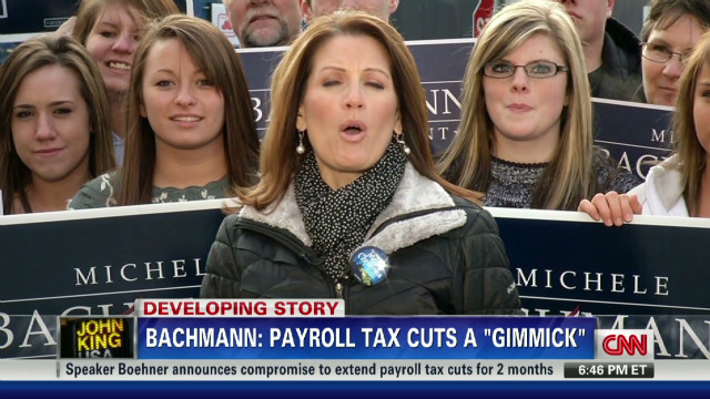 Bachmann: Tax cuts 'temporary gimmick'