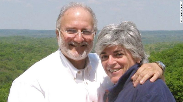Alan Gross is seen with his wife, Judy, in this undated family photo.