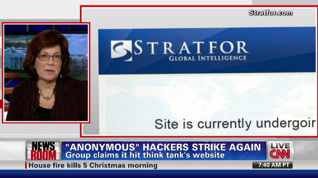 'Anonymous' hackers attack intel company