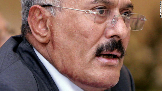 Yemeni President Ali Abdullah Saleh speaks during a meeting with leaders of his ruling party in Sanaa on December 7, 2011.