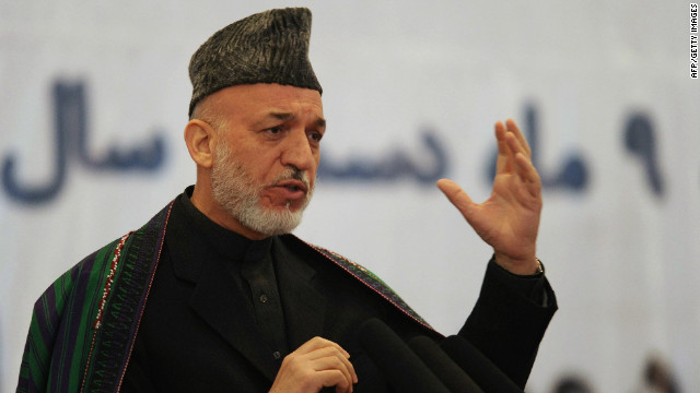 Afghan President Hamid Karzai has strongly condemned what he said was an aerial bombing by foreign forces.