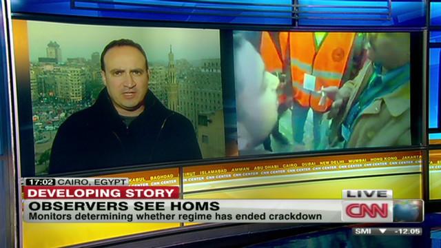 Homs protest same time as observer visit