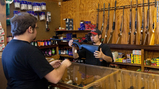 Shoppers bought record numbers of guns this holiday season, according to FBI figures.