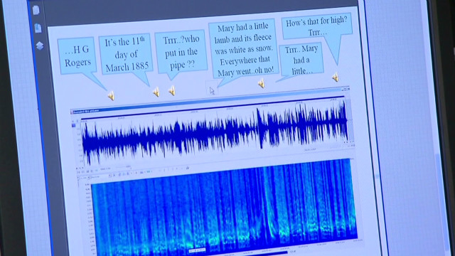 Scientists took detailed photos of the discs made in Bell's lab and created a virtual playback machine on a computer.