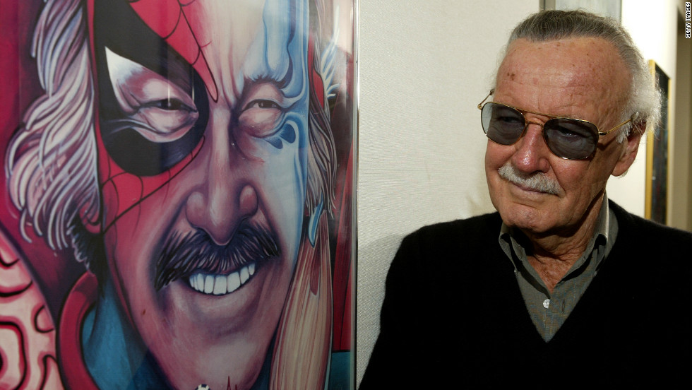 Spider-Man creator Stan Lee poses at his office in 2004. Spider-Man's popularity earned the superhero his own comic book, several TV series and in the 2000s, three blockbuster movies.