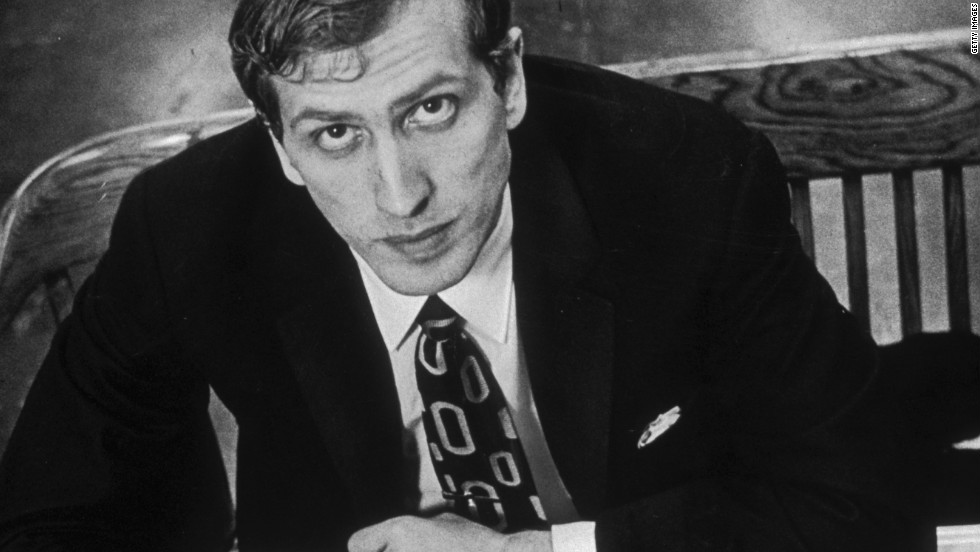 Bobby Fischer, seen in 1971, is thought by many to be one of the greatest chess players of all time. His win against Boris Spassky of the USSR attracted more worldwide attention than any other match.