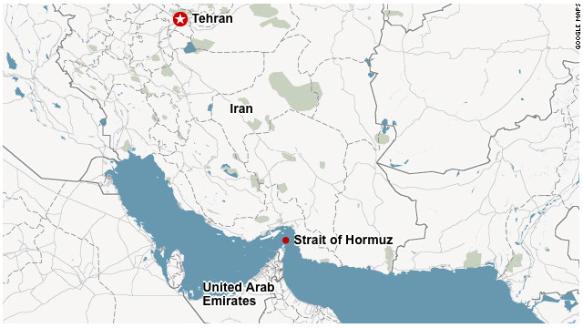 Map: Strait of Hormuz