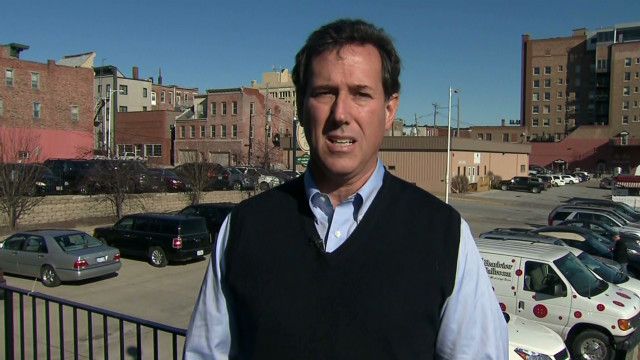 Santorum's slow rise in Iowa