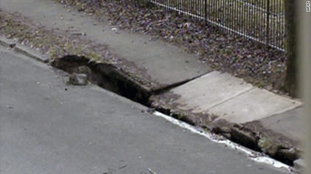 Some graves in an Allentown, Pennsylvania, cemetery may be exhumed after a sinkhole formed Thursday.