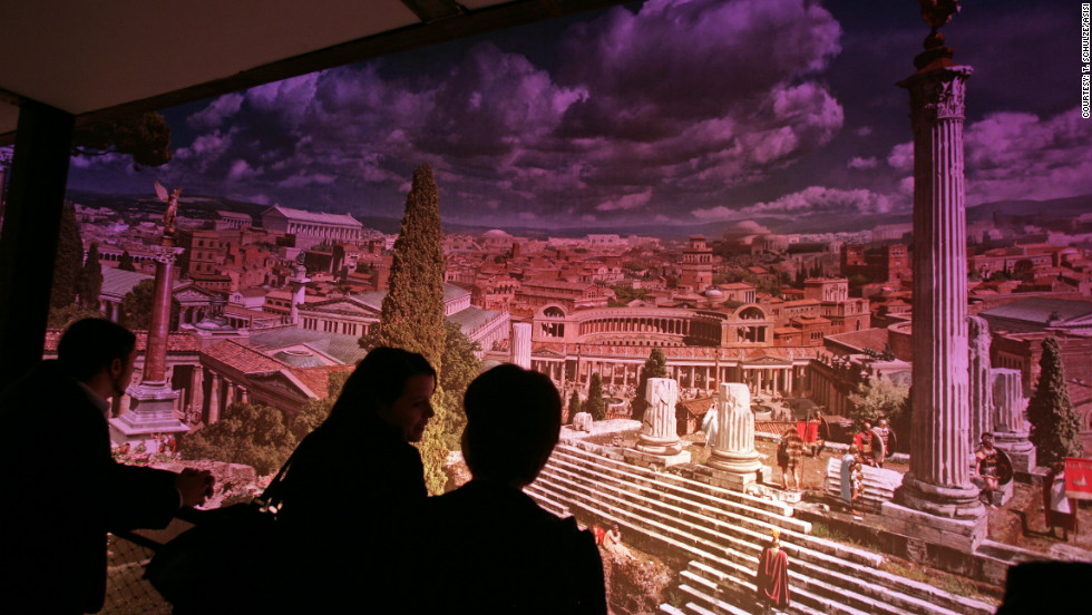 The finished panorama is enhanced with lighting and music effects, allowing visitors to view the city at different times of day.