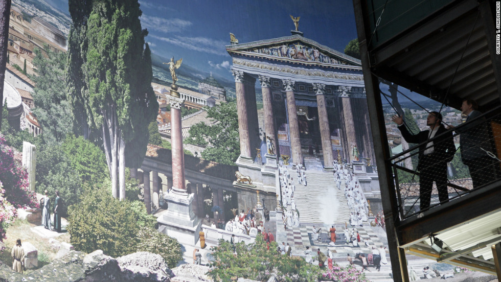German artist Yadegar Asisi specializes in creating super-sized panoramic paintings. His views of Rome and Pergamon are currently on display in Dresden and Berlin.