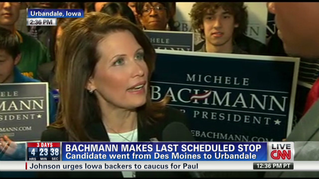 Bachmann: 'We intend to win'