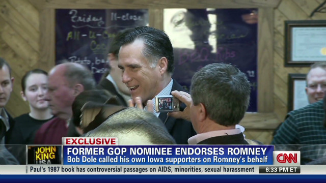 Dole: This is Romney's time