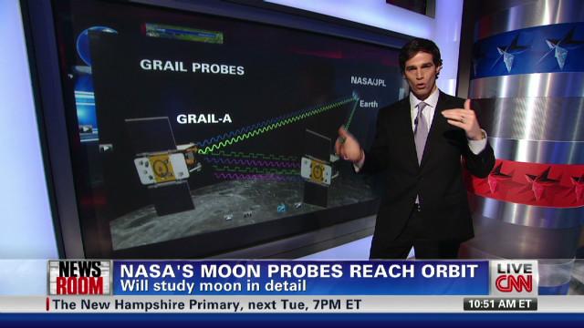 NASA moon probes reach orbit