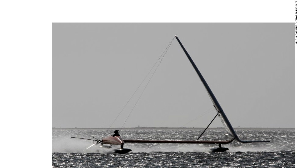 The team behind the Vestas Sailrocket 2 describe it as behaving like a boat below water and a plane above.