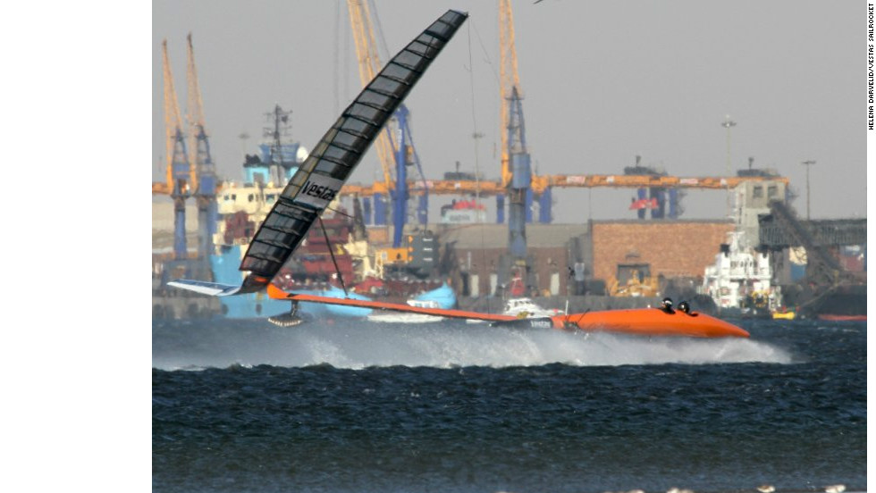 So far the Vestas Sailrocket 2 has reached the 51 knot mark, and its creators are confident it will get to 60 knots.