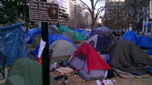 The National Park Service  has told Occupy DC protesters to stop camping overnight at sites near the White House.